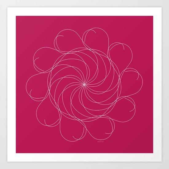 Ornament – Turning Flower Art Print