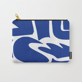 Blue shapes on white background Carry-All Pouch