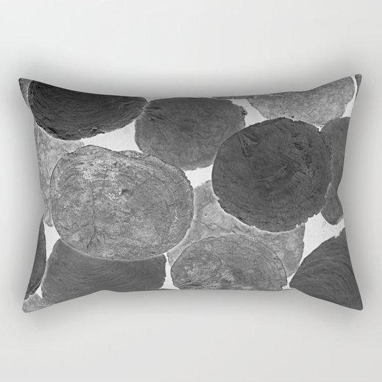 Abstract Gray Rectangular Pillow