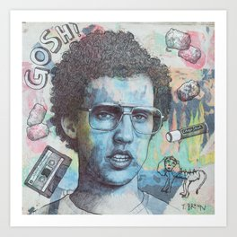Napoleon Dynamite - Probably The Best Drawing I've Ever Done Art Print