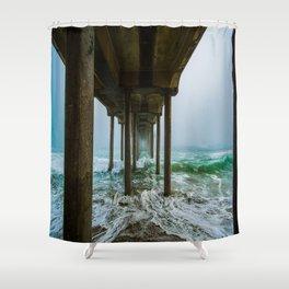 Murky Dreams - HB Pier 2016 Shower Curtain