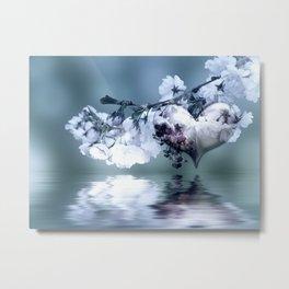 Frühlingsherz blue Metal Print