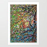 Flower Waterfall Art Print