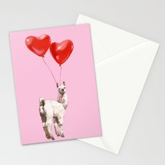 Llama and the Love Balloons Stationery Cards