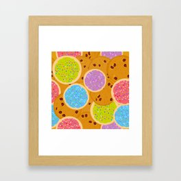 Frosted sugar cookies, Chocolate chip cookie, Italian Freshly cookies w Framed Art Print