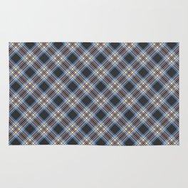 Tartan blue brown , black Rug