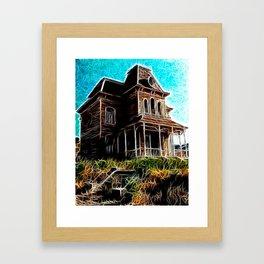 Magical Psycho Haunted House Framed Art Print