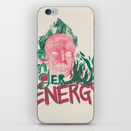 """John Lydon(Johnny Rotten/PiL) """"Anger is an Energy"""" - The Punk Loons. iPhone Skin"""