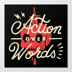 Action Over Words Canvas Print