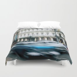 Speeding Through Time Duvet Cover