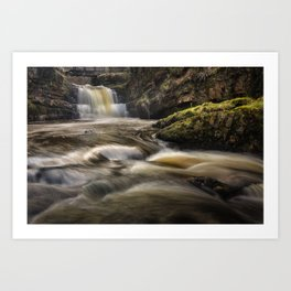 Dinas Rock Waterfalls Art Print