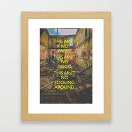 Life During Wartime Framed Art Print