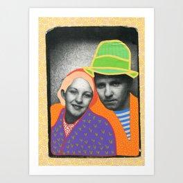 The Colour Theory Couple Art Print