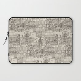 Edinburgh toile natural Laptop Sleeve