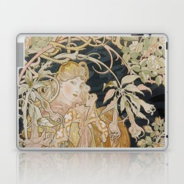 1898 - 1900 Femme a Marguerite by Alphonse Mucha Laptop & iPad Skin