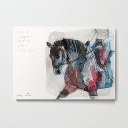 Horse (Motion vs Progress) Metal Print