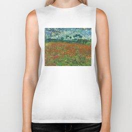 Vincent Van Gogh Poppy Field Biker Tank