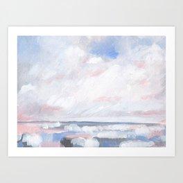 Beginnings - Pastel Moody Seascape Art Print