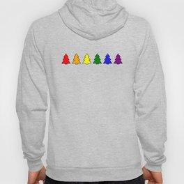 Little gay rainbow Christmas trees LGBT Hoody