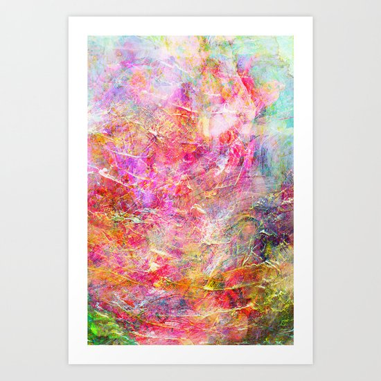 Serenity Abstract Painting Art Print