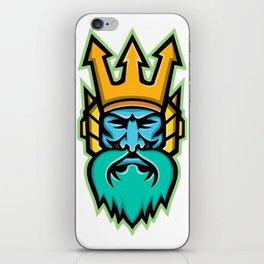 Poseidon Greek God Mascot iPhone Skin