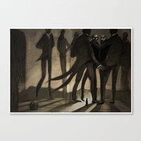 kafka Canvas Prints featuring Kafka by Cory Michael Ecker