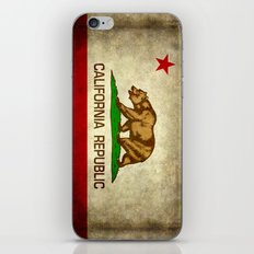 California Republic Retro Flag iPhone & iPod Skin