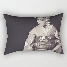 Geisha-Musume Rectangular Pillow