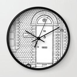 Newport Door No. 28 (ink) Wall Clock