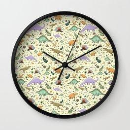 Cute Dinosaurs Wall Clock