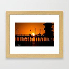 Surf Wind N Fire Framed Art Print