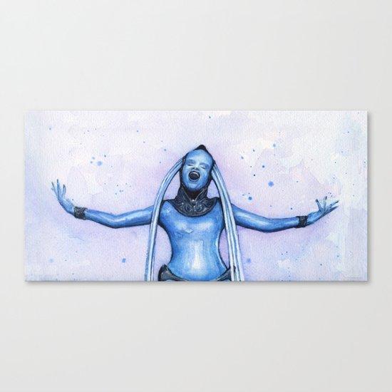 Diva Plavalaguna   Fifth Element Watercolor Art Canvas Print