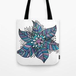 Line Floral Tote Bag