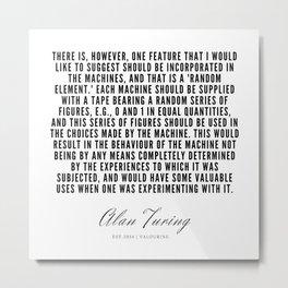 25    | Alan Turing Quotes  | 190716 | Metal Print