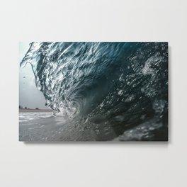 Silver Surf Metal Print