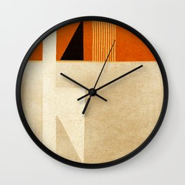 Solitaire du Figaro (ocre) Wall Clock