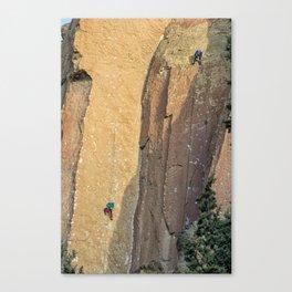 Rock Climbing At Smith Rock, No. 2 Canvas Print