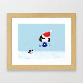 Bluey's Christmas stunt Framed Art Print