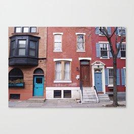 The Turquoise Door Canvas Print