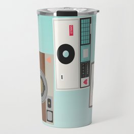 Retro Camera Print  Travel Mug