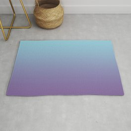 Pantone Chive Blossom Purple 18-3634 and Limpet Shell Blue 13-4810 Ombre Gradient Blend Rug