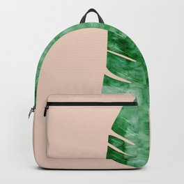 Composition tropical leaves VII Backpack