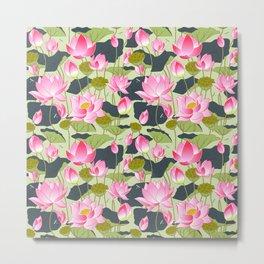 pond of pink lotuses Metal Print