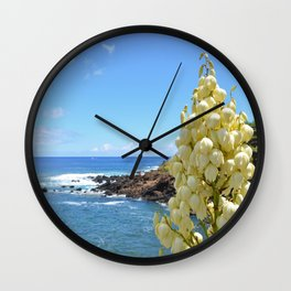 Yucca Flowers In The Azores Wall Clock