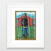 j dilla Framed Art Prints featuring DEAD RAPPERS SERIES - J. Dilla by Ibbanez
