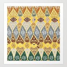 70's pattern  Art Print