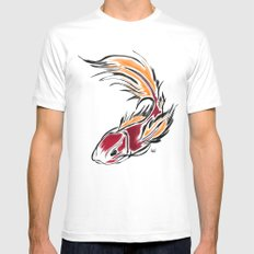 KOI  Mens Fitted Tee White MEDIUM