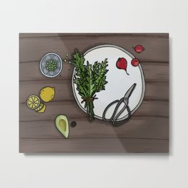 Eat Your Veg Metal Print