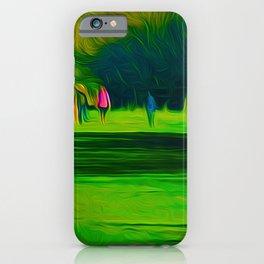 A walk in the park (Digital Art) iPhone Case