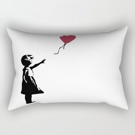 Girl With Red Balloon, Banksy, Streetart Street Art, Grafitti, Artwork, Design For Men, Women, Kids Rectangular Pillow
